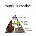 Füstölőbrikett - Magic Lavender